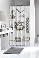Sealskin douchegordijn Barber 100% polyester zwart print 180x200 cm