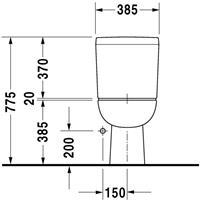 Duravit D-Code closetgedeelte closetcombinatie keramiek wit (dxbxh) 650x355x385mm
