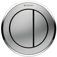 Geberit Type 10 bedieningspaneel closet/urinoir kunststof mat/glans/mat chroom (lxbxh) 94x94x6mm