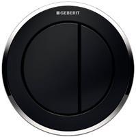 Geberit Type 10 2-knops pneumatische inbouwdrukker sigma/delta 8cm chroom-zwart