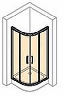 Huppe Classics 2 kwartrond met schuifdeur 90/90x190 cm. r500 matzilver-helder glas