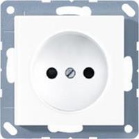 jung AS500 stopcontact 1-voudig zonder randaarde wit A511NWW