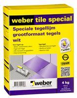 Weber tile special speciale tegellijm wit 4kg