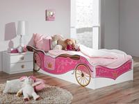 Mobistoxx Bed PIPA 90x200 cm wit/roze