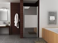 Mueller Satijn douchedeur rechts met mat glas 80x200cm ANTI-KALK