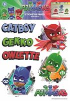 muurstickers PJ Masks pyjamahelden met namen
