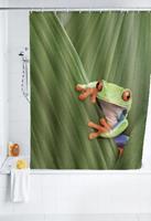 WENKO Duschvorhang Frog, 180 x 200 cm, waschbar