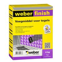 Weber finish voegmiddel grijs 2kg