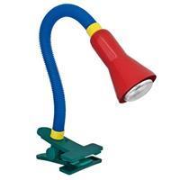 trio Kleurrijke tafellamp Couleur met klembasis