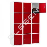 Metalen Locker met 12 vakken - breed model (Capsa)