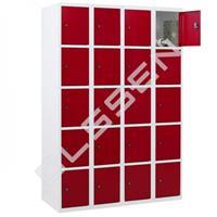 Metalen Locker met 20 vakken - smal model (Capsa)