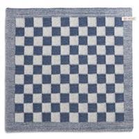 knitfactory Knit Factory keukendoek blok - ecru/jeans