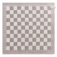 knitfactory Knit Factory keukendoek blok - ecru/taupe