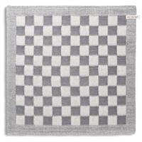 knitfactory Knit Factory keukendoek blok - ecru/grijs
