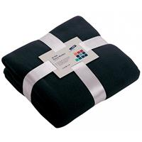 James & Nicholson Fleece deken donkerblauw