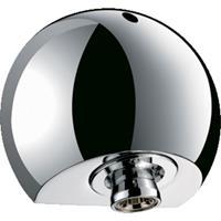 Delabie Round douchekop hoofddouche chroom. glans draadaansluiting buitendraad hoogte 62mm