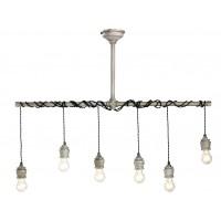 Nostalux Hanglamp metaal 6 lampen