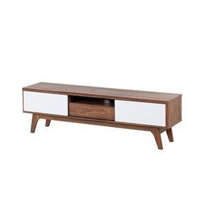 beliani Dressoir bruin-wit - sideboard - lowboard - kast - TV-meubel - EERIE
