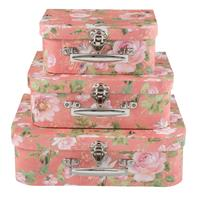 Clayre & Eef Decoratie koffer (3) 30x23x9/25x20x9/20x17x8 cm