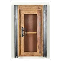 Leen Bakker Badkamer bovenkast Quin - bruin - 72x44x21 cm