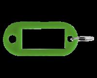 Pavo Sleutellabel  kunststof groen