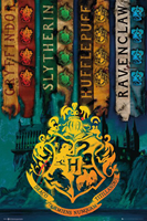 Harry Potter House Flags Poster 61x91,5cm