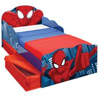 no Bed Spiderman - rood/blauw - 142x77x64 cm