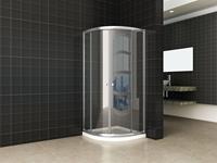 saqu Douchecabine kwartrond 80x80x190 cm Helder glas Aluminium
