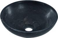 saqu Opzetwastafel zonder kraangat 32x32x12 cm Hardstenen Zwart
