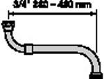 Neoperl boven/onderuitloop 28-48 cm,
