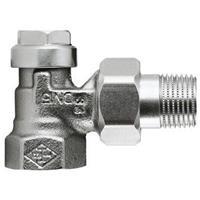 Heimeier instelbaar+afsluitbaar radiator koppeling 1/2haaks