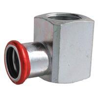 """Bonfix Press knie 1/2""""x15 mm, bi.xpers, staalverzinkt"""