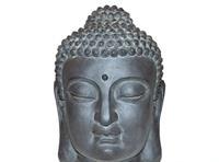 Stone-lite Boeddha hoofd m 42 cm