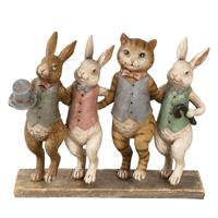 Clayre & Eef Decoratie dieren 23x6x19 cm