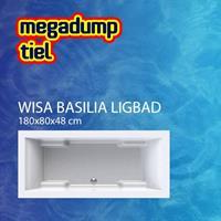wavedesign Ligbad Basilia Wit - Basilia 180x80x48 cm Wit