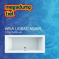 WISA Agape ligbad kunststof wit (lxbxh) 1700x750x500mm