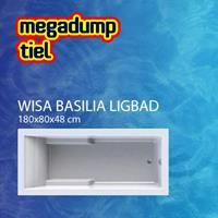 wavedesign Basilia Shower Bad/Douchecombinatie 180X80 cm Wit - 180x80 cm Wit