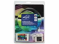vellight KIT MET FLEXIBELE LED-STRIP, CONTROLLER EN VOEDING - RGB - 150 LEDs - 5 m - 12 Vdc - ZONDER COATING