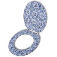 VidaXL Toiletbril van MDF met porselein dessin