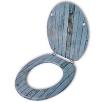 VidaXL Toiletbril met MDF houten ontwerp