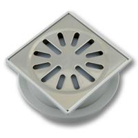 Aquaberg vloerput met 1 aansluiting uitwendige buisdiameter 50mm (hxb) 63x100mm vloerput ABS