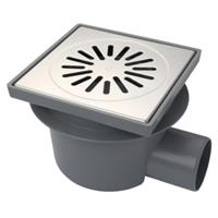 Aquaberg vloerput met 1 aansluiting uitwendige buisdiameter 75mm (hxb) 160x200mm vloerput ABS