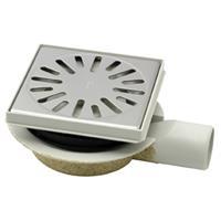 Aquaberg vloerput met 1 aansluiting uitwendige buisdiameter 50mm (hxb) 78x146mm vloerput ABS