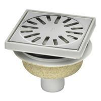 Aquaberg vloerput met 1 aansluiting uitwendige buisdiameter 50mm (hxb) 89x150mm vloerput ABS