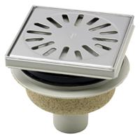 Aquaberg vloerput met 1 aansluiting uitwendige buisdiameter 50mm (hxb) 89x146mm vloerput ABS