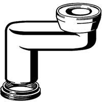 Viega toilet afvoersprongstuk vlak 6 cm