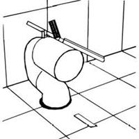 Villeroy & Boch variabele afvoerbocht 70-170 mm, wit