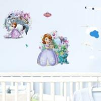 Walplus kids decoratie sticker - disney sofia het prinsesje