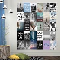 Walplus muur decoratie sticker - foto en quote collage