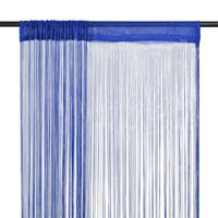 vidaXL Draadgordijnen 100x250 cm blauw 2 st